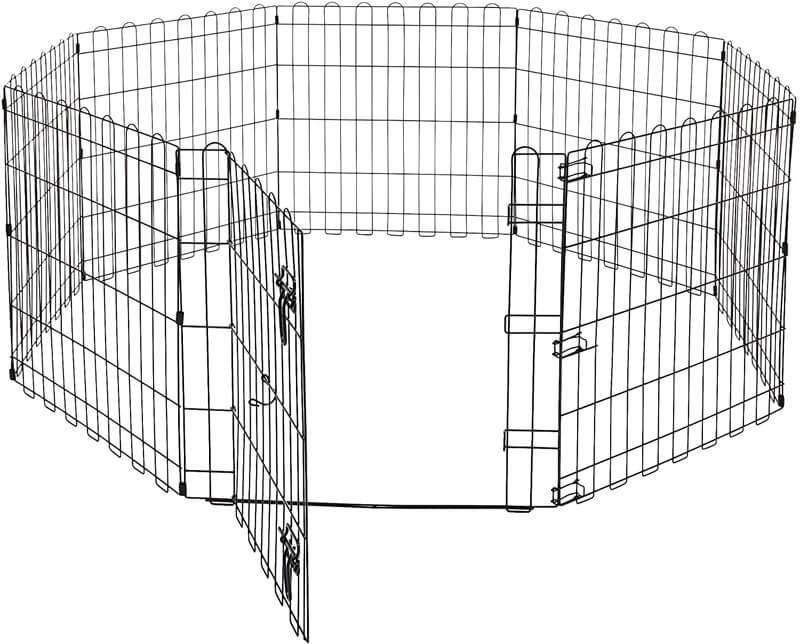 Amazonベーシック ペット 犬用 エクササイズフェンス プレイサークル